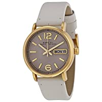 Marc Jacobs Fergusグレーレザーレディース腕時計