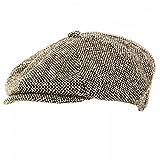 メンズ ウールブレンド 8パネル キャスケット ニュースボーイキャップ 帽子 ハット 秋冬 男性用 (57cm) (グレー)