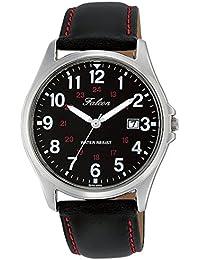 [シチズン キューアンドキュー]CITIZEN Q&Q 腕時計 Falcon ファルコン アナログ 革ベルト 日付 表示 ブラック D026-305 メンズ