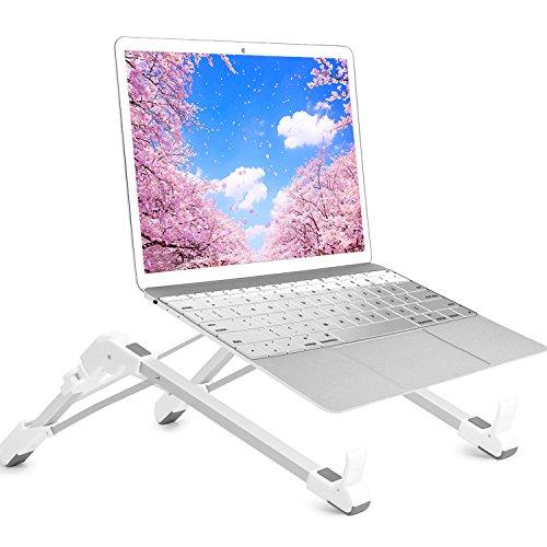 TEPSMIGO ノートパソコンスタンド PCスタンド 折りたたみ式 PC/MacBook/ラップトップ/iPad/タブレット 放熱 高さ・角度調整可能 アルミ合金 収納布袋付き