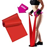 Resistance Bands - 2m/6.5ft Professional Latex Elastic Bands for Home or Gym Upper & Lower Body Exercise, Physical Therapy, S