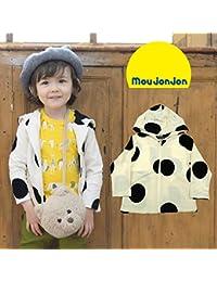 【子供服】 moujonjon (ムージョンジョン) ドットジャガード耳付パーカー 80cm~130cm M56411