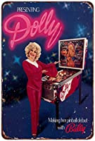 Dolly Parton BallyピンボールヴィンテージAd Reproduction Metal Sign 8 x 12
