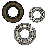 spares2goドラム軸受&オイルシールキットfor Bosch洗濯マシン( 6205zz 6306zz ) Fitment List F 019-DVF-1946