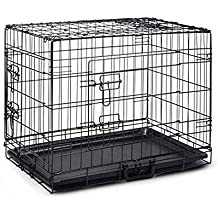 """30"""" Pet Dog Cage Collapsible Metal Crate Kennel Portable Puppy Cat Rabbit House"""