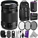 Sigma 18-300mm f/3.5-6.3 DC Macro OS HSM (C) Contemporary Lens for CANON DSLR Cameras w/ Advanced Photo and Travel Bundle [並..