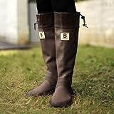 バードウォッチング長靴[ブーツ](収納袋付)ブラウンLL