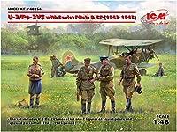 ICM 1/48 ポリカリポフ U-2/Po-2VS w/ソビエトパイロット&GP 1943-1945年 プラモデル 48254