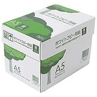コピー用紙 A5 ホワイトコピー用紙 高白色 紙厚0.09mm 5000枚(500×10) ATK905