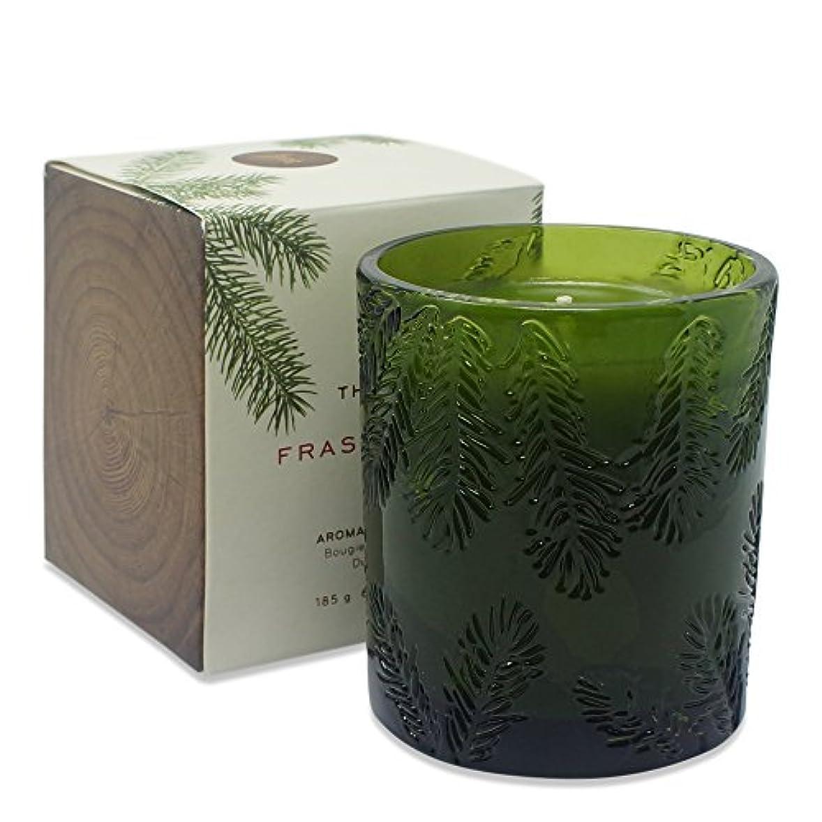 ドラゴン降雨結晶THYMES FRASIER FIR CANDLE moulded GREEN GLASS