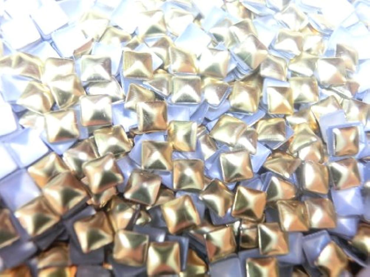 カストディアンステッチステッチ【ラインストーン77】 多種類 スタッズ 各色.各サイズ.選択可能 (四角(スクエア) 2mm, ゴールド)