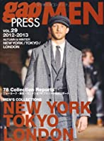 gap PRESS MEN vol.29(2012ー201 NEW YORK,TOKYO,LONDON MEN'S CO (gap PRESS Collections)
