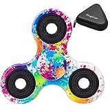 Fidget Spinner Toy 指スピナー ハンドスピナー フォーカス玩具 ボールベアリング ミキシングセラミック軸受超耐久性の高い高速度 (ブラック&レッド)