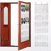 ユーティリティ24 Roomyポケットをドアのドア靴オーガナイザーハンギング靴ラックシェルフハンガー大きな靴ホルダーストレージバッグドアのwith 3 Freeスチールフック(hzc165 )