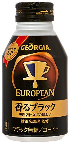 コカ・コーラ ジョージア ヨーロピアン 香るブラック 290ml ボトル缶×24本