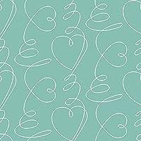 lola ロラ テーブルクロス 高級 ベルギー製 防水 塩ビ 140x10㎝単位 切り売り ハートビートミント