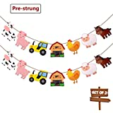 Farm Animal Party Supplies Banner Barnyard Themed Party Decorations Birthday Baby Shower