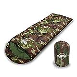 [リベルタ]LIBERTA 寝袋 シュラフ スリーピングバッグ 封筒型 コンパクト 軽量 丸洗い 最低使用温度0度 収納袋 迷彩 カモフラージュ