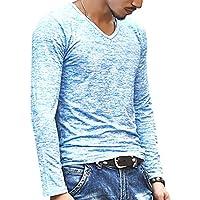 [ラルジュアルブル] カットソー マーブル トップス Tシャツ ロンT 長袖 インナー かっこいい シンプル カジュアル