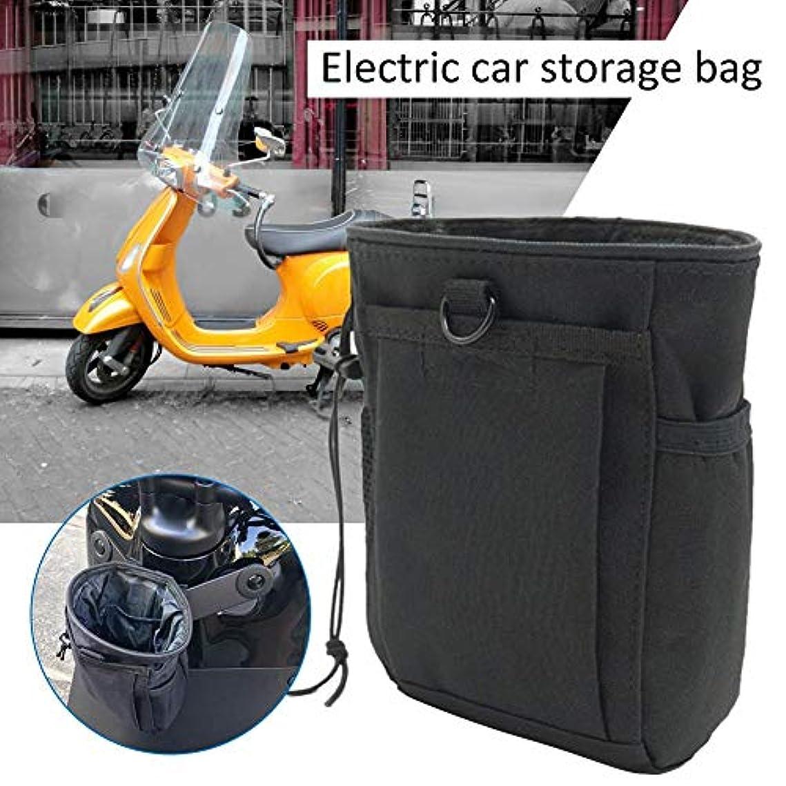 感覚積極的にあなたのもの電気自転車収納バッグ ストレージ収納箱 置物ケース ブラック ナイロン布 マルチポケットデザイン 140X90X180mm