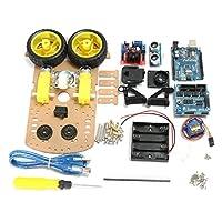 DIY L298N 2WD Ultrasonic Smart トラックing Moteur ロボット カー キット Arduino [並行輸入品]