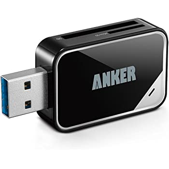 Anker USB-A 2-in-1 カードリーダー【SDXC/SD/SD/MMC/RS-MMC/Micro SDXC/Micro SD/Micro SDHCカード/UHS-Iカード対応】
