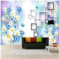 """壁の装飾用の壁紙の背景の3D壁紙菊の壁の壁画の壁紙-300cm(W)x 200cm(H)(9'10""""x 6'7"""")ft"""