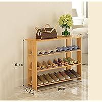 靴ラックナチュラル竹木製シンプルな靴ブーツラックストレージオーガナイザーホルダー多層多機能ストレージシェルフ