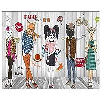 山笑の美 ファッションパーソナリティ手ed抽象動物服店背景壁3 d壁紙-120X100CM