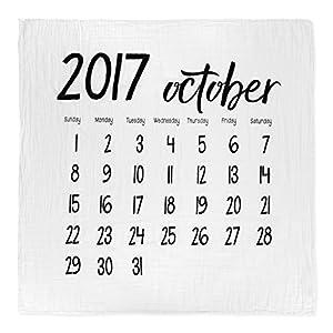 モダンバーラップ Modern Burlap おくるみ 1枚 オーガニック コットン モスリン スワドル ブランケット カレンダー OCTOBER 2017