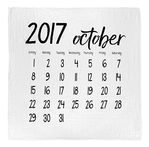 Burlap モダンバーラップ モダンバーラップ Modern Burlap おくるみ 1枚 オーガニック コットン モスリン スワドル ブランケット カレンダー OCTOBER 2017