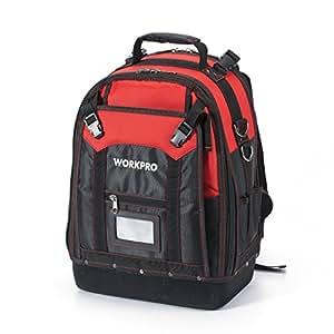 WORKPRO マルチーバッグ 工具バックパック 防水ツールバッグ 耐磨耗 37ポケット 通勤 出張 持ち歩きの良いリュック 工具仕分け用