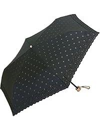傘 レディース 日傘 折りたたみ傘 防水 簡単開閉3段 パラソル カットレース オパール
