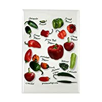 """CafePress–Hot Chili Peppers長方形マグネット–長方形マグネット、2"""" x3""""冷蔵庫マグネット"""