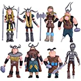 Max Fun Set of 8 Pcs HTTYD Dragon Action Figures Hiccup Astrid Stoick & Ruffnut Child Toys Xmas Gift Cake toppers