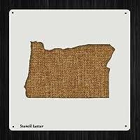 オレゴン州状態スタイル1203、DIYプラスチックステンシルアクリルMylar再利用可能な