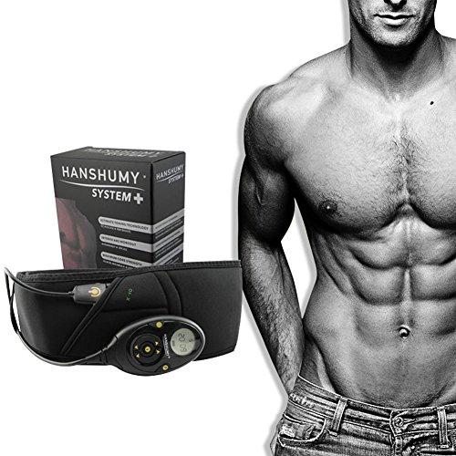 RanBow振動エクササイズベルト 男女兼用便利軽量簡単ボディフィットスリムな体格トレーニングを整形...