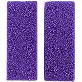 HEALIFTY 2Pcs Foot Pumice Stone Exfoliator Pedicure File Block Callus Remover Scrubber (Purple)