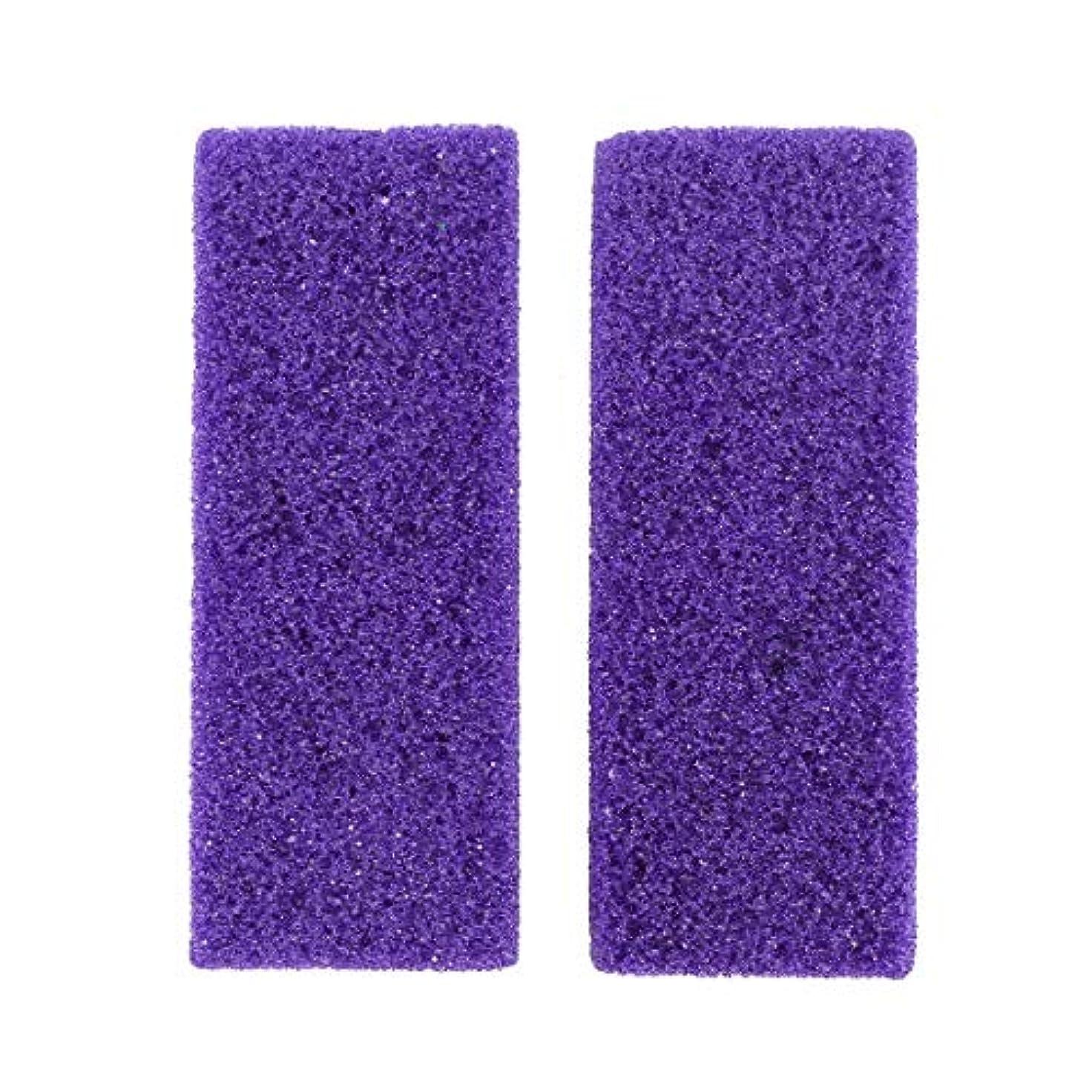 ダイヤル紫の免疫するHeallily 足軽石4ピース足カルスリムーバー剥離剤軽石石ペディキュアツール用デッドハードスキン除去(パープル)
