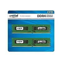 CFD販売 デスクトップPC用メモリ PC4-19200(DDR4-2400) 8GBx2枚 288pin (無期限保証)(Crucial by Micron) W4U2400CM-8G