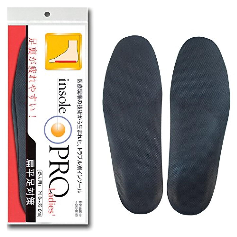 アクティブ裏切るまばたきインソールプロ レディス 偏平足対策 黒 L(24~25cm)
