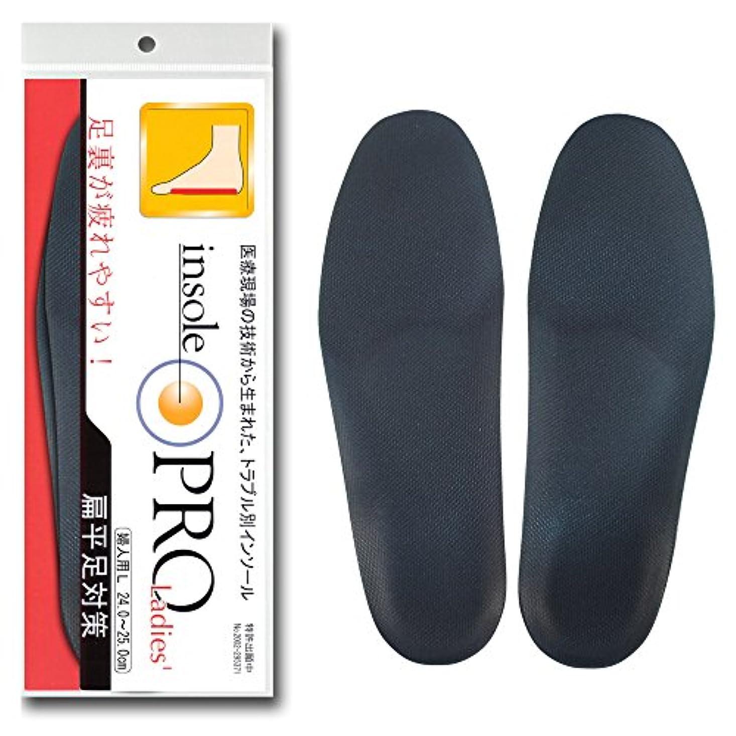 申請中スリット従来のインソールプロ レディス 偏平足対策 黒 L(24~25cm)