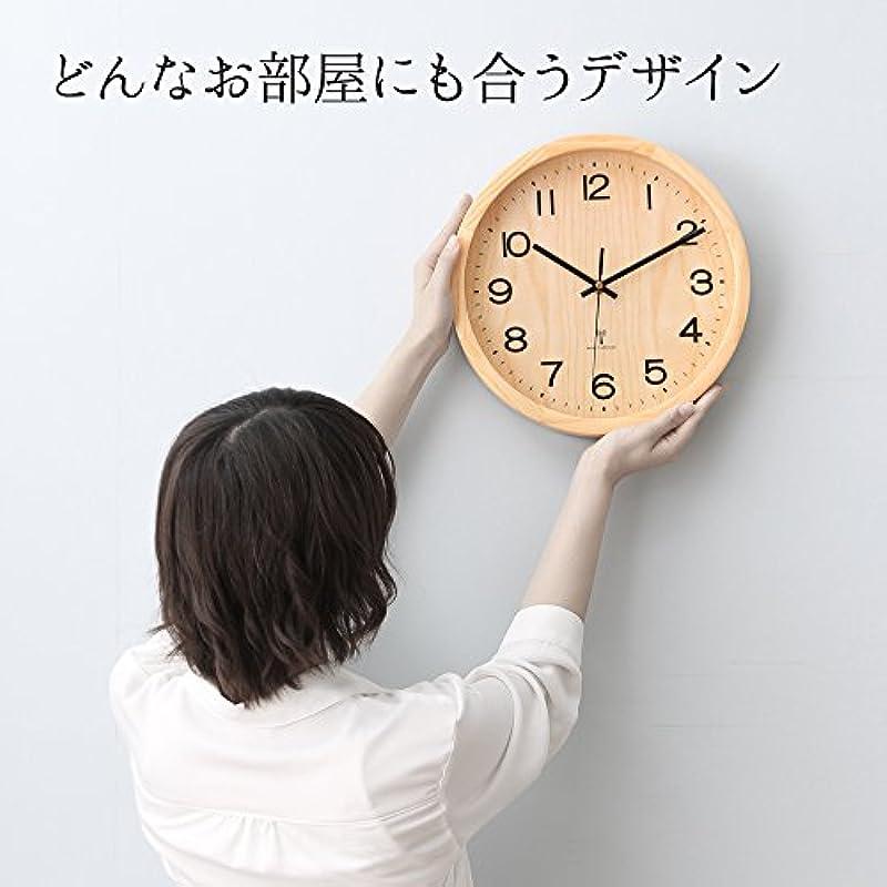 아이리스 플라자 천연목 벽시계 전파 시계