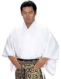 袴下着物 きもの メンズ レディース 仕立上がり 舞台 舞踊 白色 5542