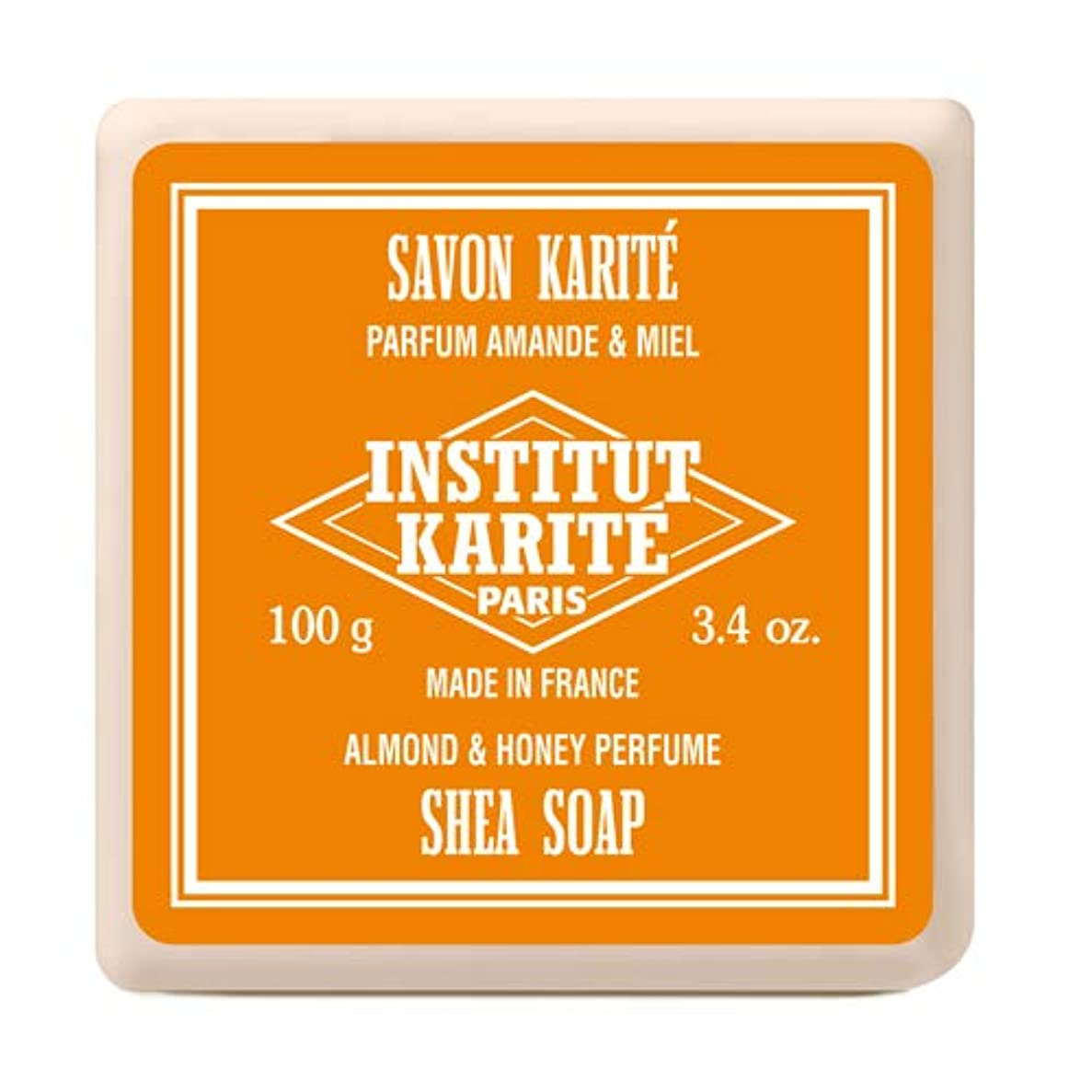 国家解任飽和するINSTITUT KARITE インスティテュート カリテ Shea Wrapped Soap シアソープ 100g Almond & Honey アーモンド&ハニー