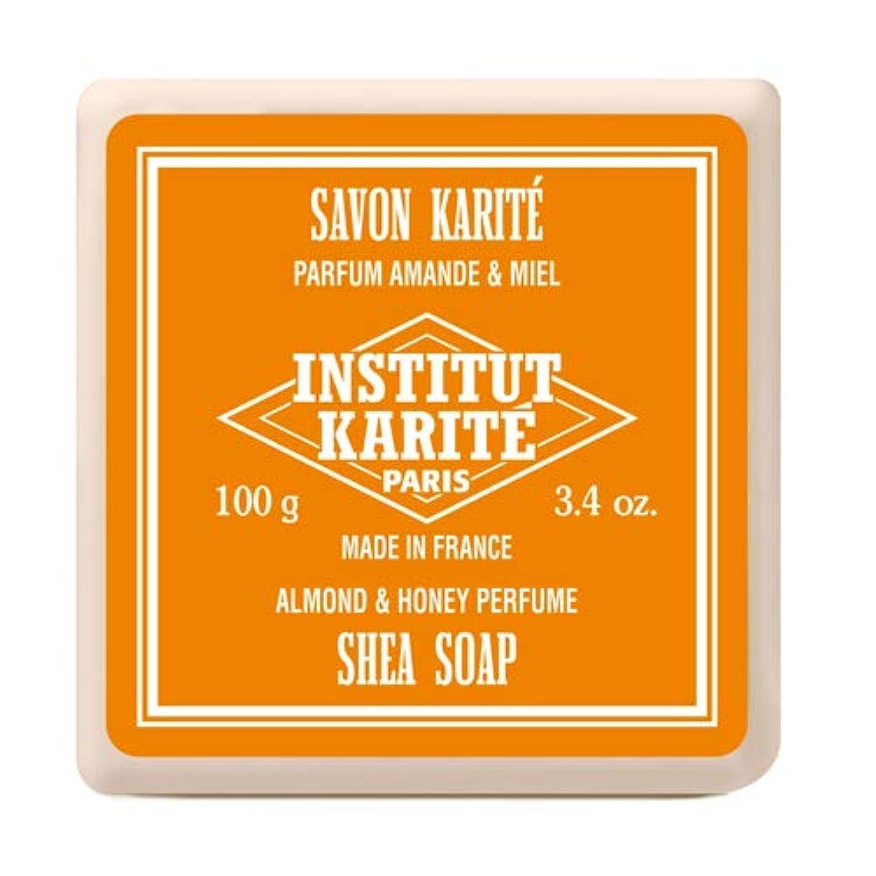 先駆者配送租界INSTITUT KARITE インスティテュート カリテ Shea Wrapped Soap シアソープ 100g Almond & Honey アーモンド&ハニー