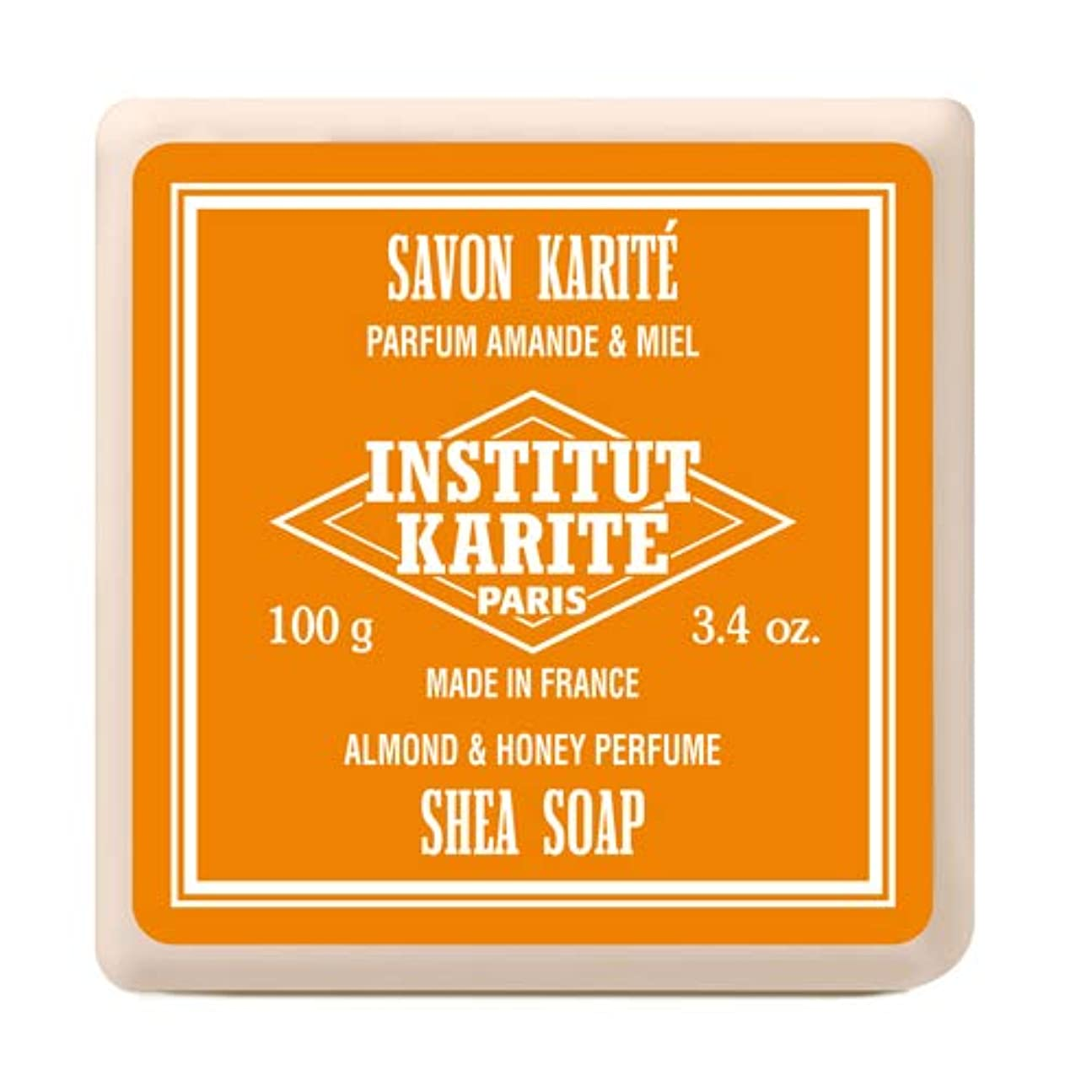 妨げる修士号兵隊INSTITUT KARITE インスティテュート カリテ Shea Wrapped Soap シアソープ 100g Almond & Honey アーモンド&ハニー