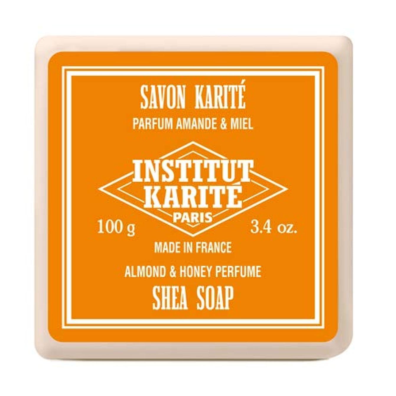 バットスカーフ信者INSTITUT KARITE インスティテュート カリテ Shea Wrapped Soap シアソープ 100g Almond & Honey アーモンド&ハニー