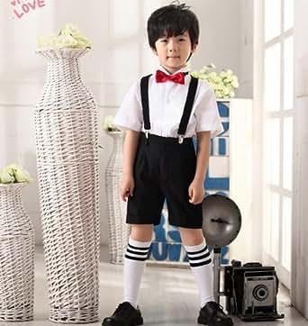 子供スーツ 男の子 子ども服 フラワーボーイズ 発表会 パーテイー 演奏会  出演服etlfb27 (130)
