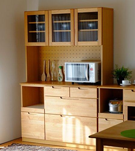 ISSEIKI キッチンオープンボード 幅120 ナチュラル 木製 大型開梱設置便 【ER-01-6】